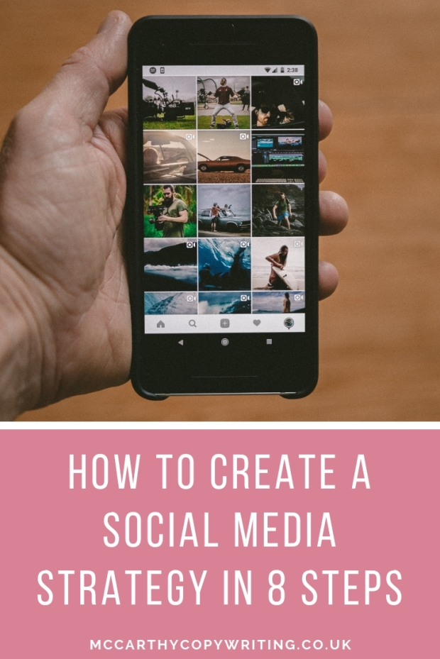 Create a social media strategy in 8 steps #socialmedia #bloggingtips #bloggingadvice #blogging #strategy